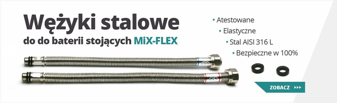 Wężyki stalowe do baterii stojącej mix-flex